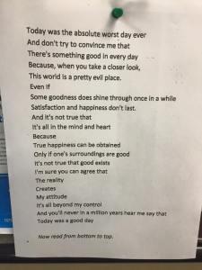 Positive:Negative Day Poem